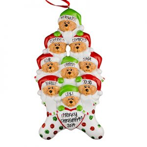 Stocking Cap Bears Family of 9