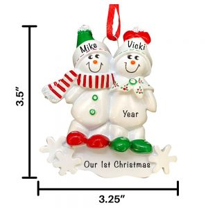 nowmen Couple Personalized Christmas Ornament