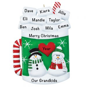 Christmas Hot Cocoa Mug Personalized Christmas Ornament