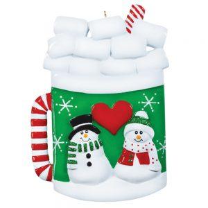 Christmas Hot Cocoa Mug Personalized Christmas Ornament - Blank