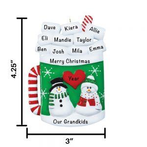 Mug Personalized Christmas Ornament