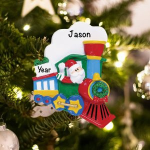 Personalized Santa Train Christmas Ornament