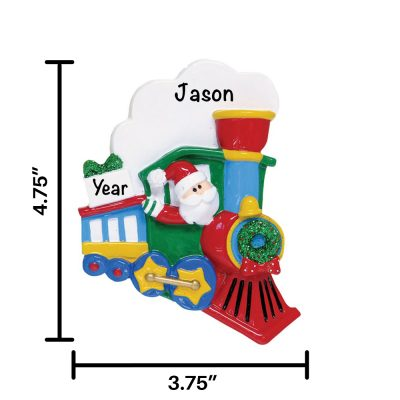 Santa Train Personalized Christmas Ornament