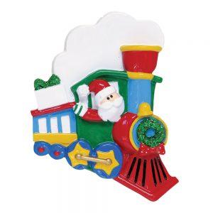 Santa Train Personalized Christmas Ornament - Blank