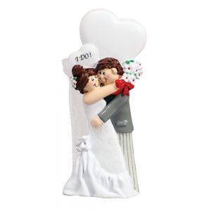 I do! Wedding Personalized Christmas Ornament - Blank