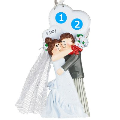 I Do! Wedding Couple Personalized Ornament