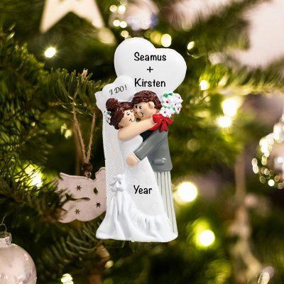 Personalized I Do Wedding Christmas Ornament