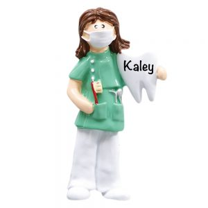 Dentist _ Hygienist Girl Personalized Christmas Ornament