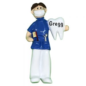 Dentist _ Hygienist Guy Personalized Christmas Ornament