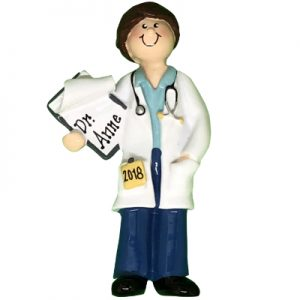 Doctor - Girl Personalized Ornament