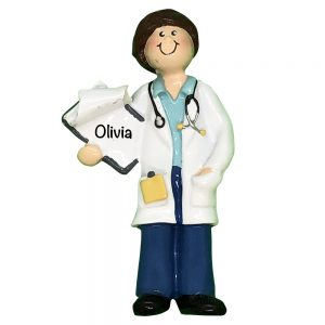 Doctor Woman Personalized Christmas Ornament