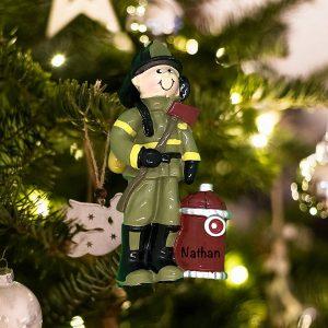 Personalized Fireman Christmas Ornament