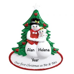 1st Christmas as Mr and Mrs Personalized Christmas Ornament
