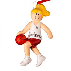 Girl Basketball Player With Blonde Hair