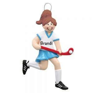 Field Hockey Girl Personalized Christmas Ornament