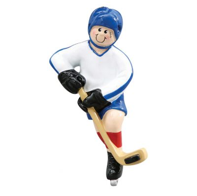 ce Hockey Player Personalized Christmas Ornament - Blank