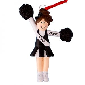 Black Cheerleader Girl With Brown Hair