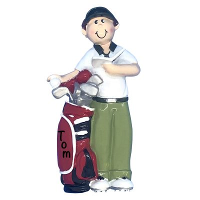 Golf Guy Personalized Christmas Ornament