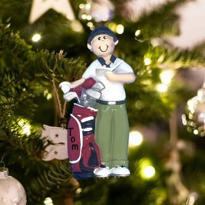 Personalized Golf Guy Christmas Ornament