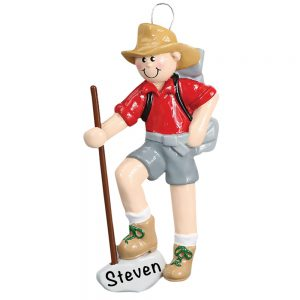 Boy Scout Hiking Personalized Christmas Ornament