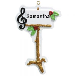 Music Stand Personalized Christmas Ornament