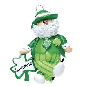 Irish Santa Personalized Christmas Ornaemnt