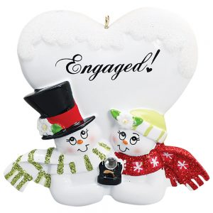 Engaged Personalized Christmas Ornament - Blank