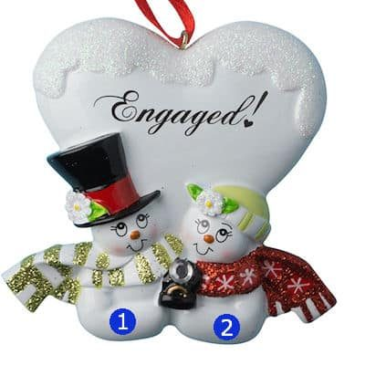 Engaged Snow Couple