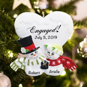 Personalized Engaged Christmas Ornament