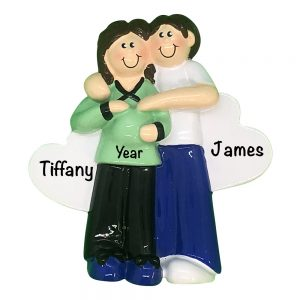 Expecting Couple Baby Personalized Christmas Ornament