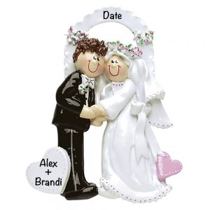 Wedding Arch Couple Personalized Christmas Ornament