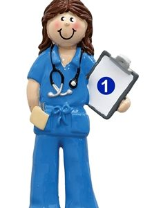 Blue Scrubs Physician Woman