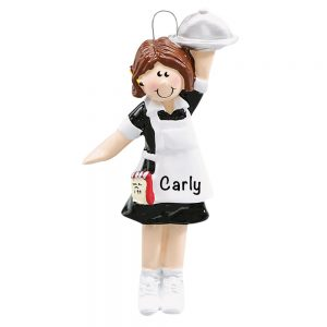 Waitress Personalized Christmas Ornament