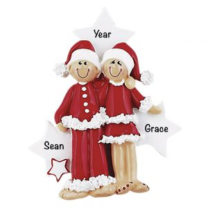 Christmas Outfit Couple Personalized Christmas Ornament