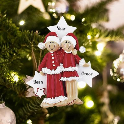 Personalized PJ Lovers Christmas Ornament