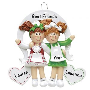 Friends Sisters Personalized Christmas Ornament
