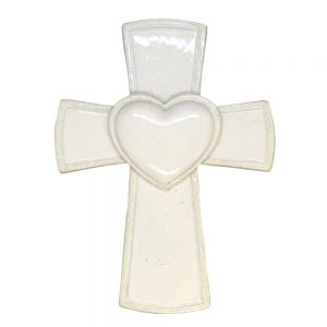 White Cross Religious Memorial Personalized Christmas Ornament - Blank