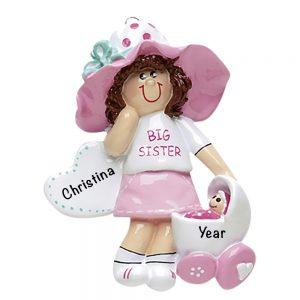 Big Sister Personalized Christmas Ornament