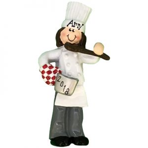 Chef Girl Personalized Ornament
