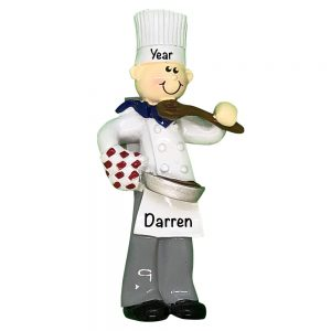 Chef Boy Personalized Christmas Ornament