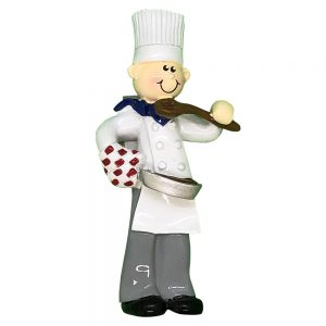 Chef Boy Personalized Christmas Ornament - Blank