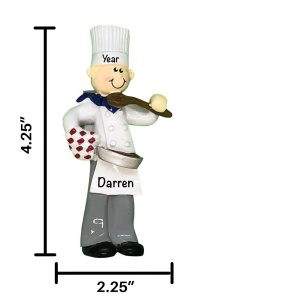 Chef Guy Personalized Christmas Ornament