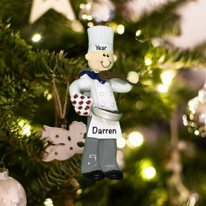 Personalized Chef Boy Christmas Ornament