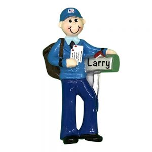Mailman Personalized Christmas Ornament