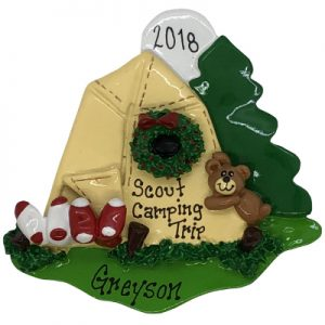 Camping Personalized Ornament