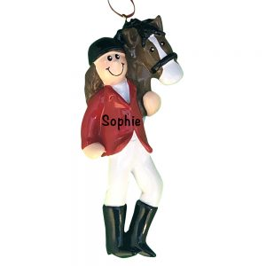 Girl With Horse Personalized Christmas Ornament