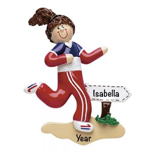 Runner Girl Personalized Christmas Ornament