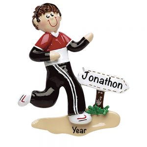 Runner Guy Personalized Christmas Ornament