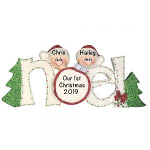Couple Personalized Christmas Ornament
