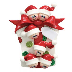 Gift Family of 6 Personalized Christmas Ornament - Blank